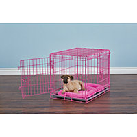 """You & Me 2-Door Training Crate, Pink, 24"""""""