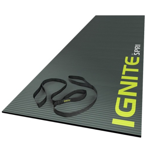 Ignite by SPRI Premium Fitness Mat - Gray (15mm)