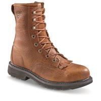 "Wolverine DuraShocks Herrin Men's 8"" Steel Toe Kiltie Lacer Boots"