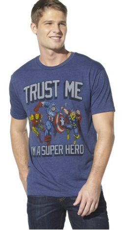 Men's Avengers Trust Me T-Shirt Blue