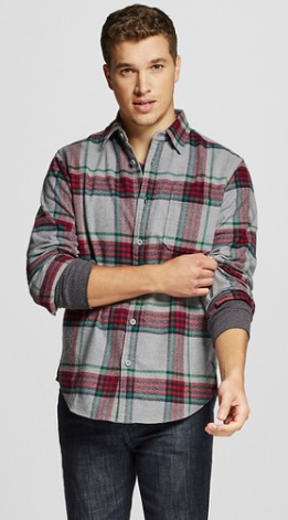 Men's Crepe Flannel Shirt Gray - Merona™