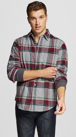 Men's Crepe Flannel Shirt Gray - Merona™