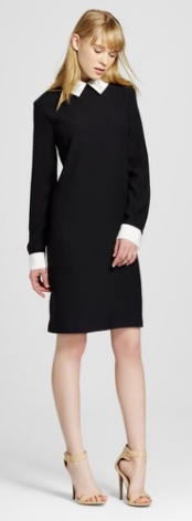 Women's Black Collared Dress - Victoria Beckham for Target