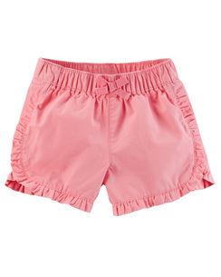 Ruffle Twill Shorts