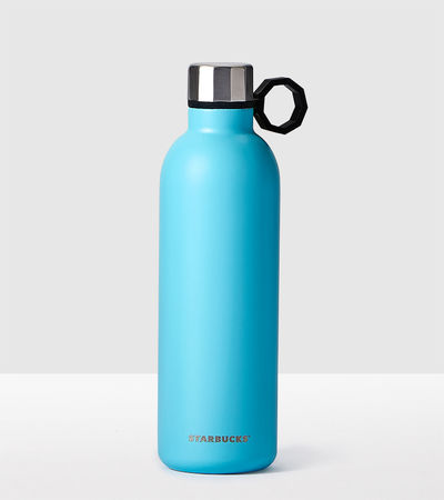 Aqua Stainless Steel Water Bottle