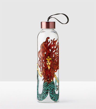 Siren Glass Water Bottle