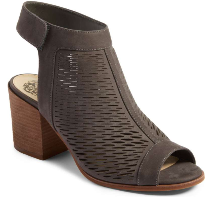 Lavette' Perforated Peep Toe Bootie VINCE CAMUTO