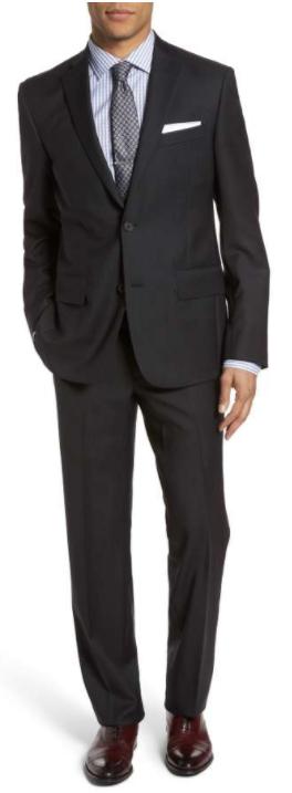 Men's Shop Trim Fit Check Wool Suit NORDSTROM