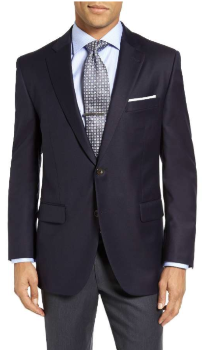 'Flynn' Classic Fit Navy Wool Blazer PETER MILLAR