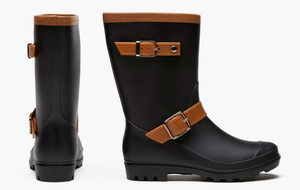 Sociology Women's Two-Tone Rain Boots | Groupon Exclusive (Sizes 6, 7, 8)