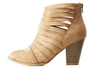 Strappy Chunky Heel Ankle Booties