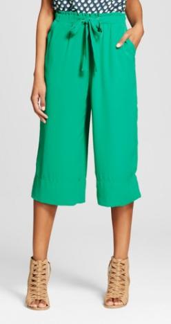 Women's Smock-Waist Pants Green - Xhilaration