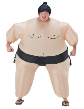 Adult Inflatable Sumo Adult Costume Tan - One Size Fits Most