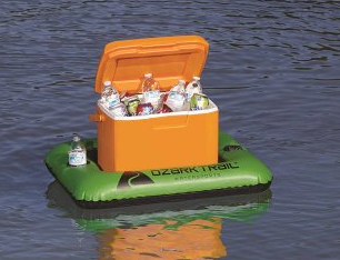 Ozark Trail 28 qt Cooler Float with 2 Cup Holders