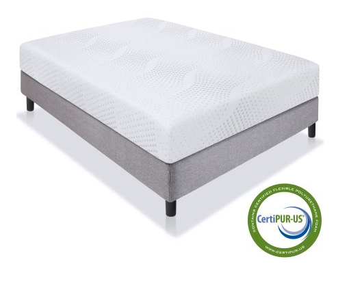 "Best Choice Products 10"" Dual Layered Memory Foam Mattress Queen- CertiPUR-US Certified Foam"