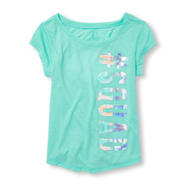 Girls PLACE Sport Cutout Back Graphic Top
