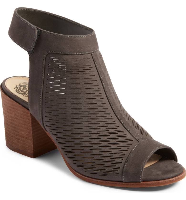 'Lavette' Perforated Peep Toe Bootie VINCE CAMUTO