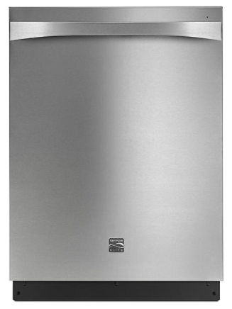 """Kenmore Elite 14815 24"""" Built-In Dishwashers with 3rd Rack – Active Finish™"""