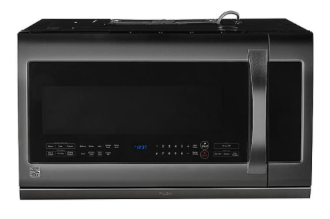 Kenmore Elite 87587 2.2 cu. ft. Over-the-Range Microwave Oven - Black Stainless