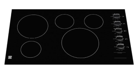 "Kenmore 45309 36"" Electric Cooktop with Radiant Elements - Black"
