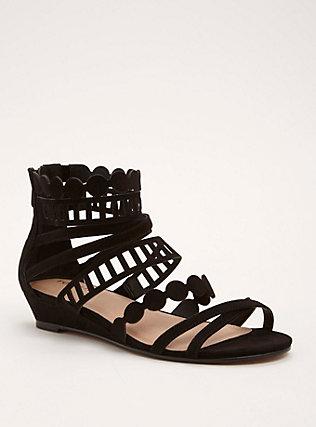 Laser Cut Gladiator Sandals (Wide Width)