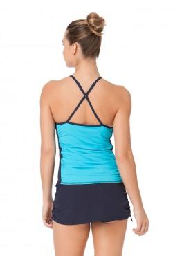 Anne Cole Locker Women's Laser Dot Cross Back Tankini Swimsuit