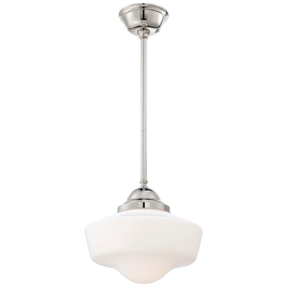 Minka Lavery 1-Light Polished Nickel Pendant