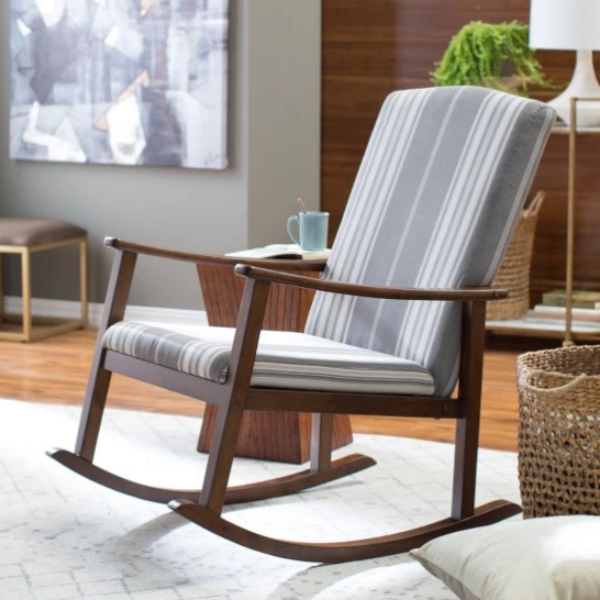 Belham Living Holden Striped Modern Rocking Chair