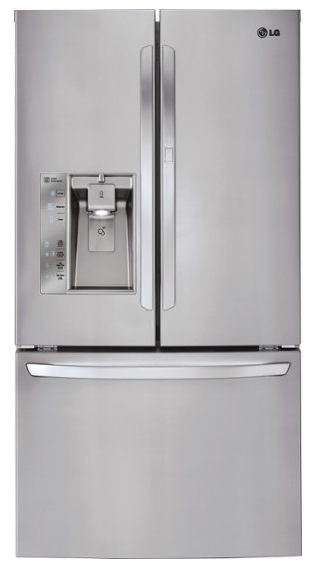LG - 31.5 Cu. Ft. French Door Refrigerator with Thru-the-Door Ice and Water - Stainless Steel