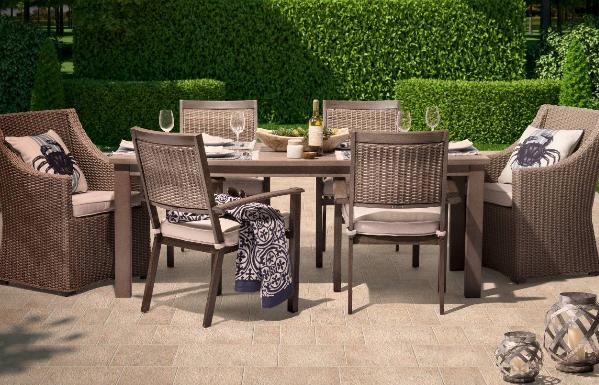 Premium Edgewood 7-Piece Wicker Patio Dining Set - Smith & Hawken™