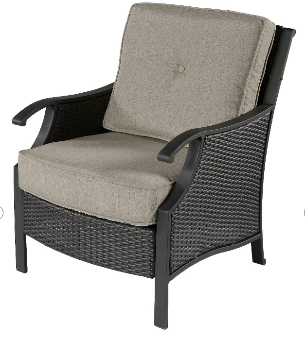 Capitol Peak 4-Piece Wicker Patio Chair Set