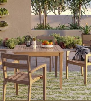 James 5-pc. Wood Patio Dining Set - Threshold™