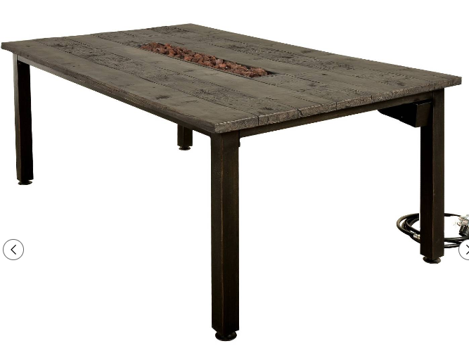 Campbell Faux Wood Fire Dining Table