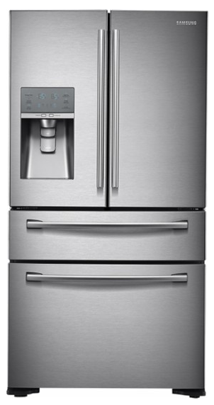 Samsung - 31.0 Cu. Ft. 4-Door French Door Refrigerator with Thru-the-Door Ice and Water - Stainless-Steel