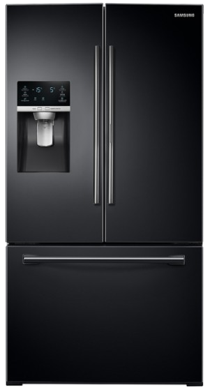 Samsung - 27.8 Cu. Ft. French Door Refrigerator - Black