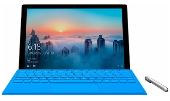"Microsoft - Surface Pro 4 - 12.3"" - 1TB - Intel Core i7 - Silver"