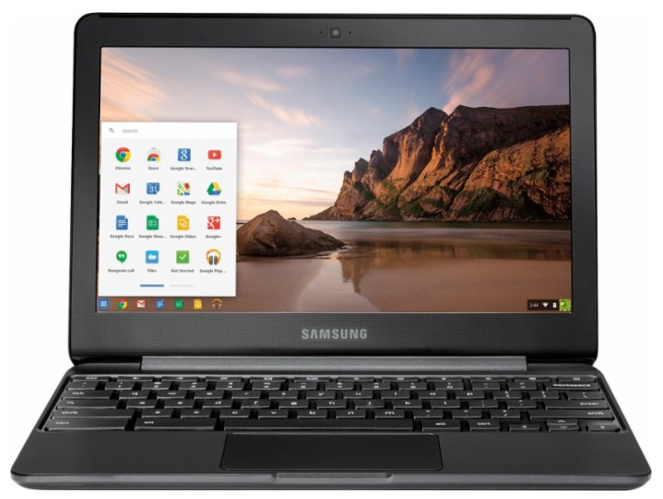 "Samsung - 11.6"" Chromebook - Intel Celeron - 4GB Memory - 32GB eMMC Flash Memory - Metallic Black"
