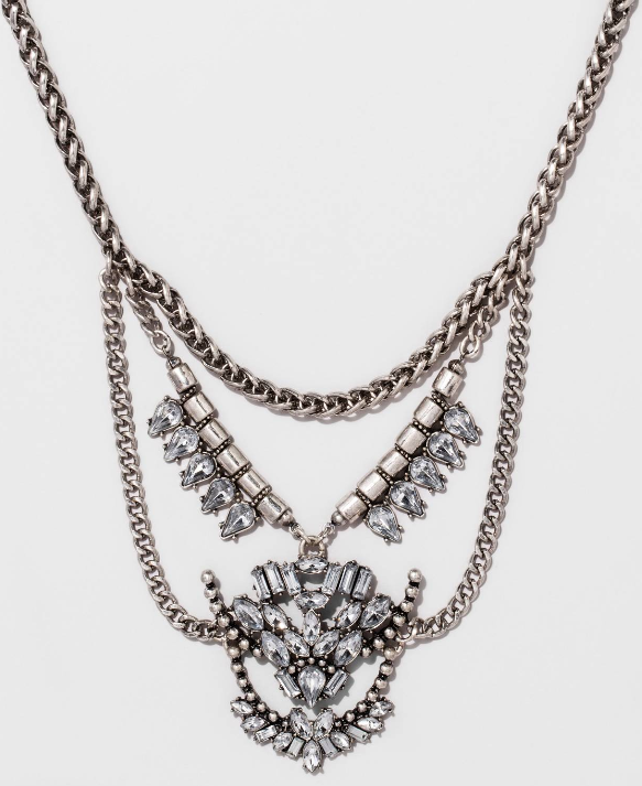 SUGARFIX by BaubleBar™ Crystal Statement Necklace - Blue