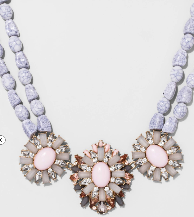 SUGARFIX by BaubleBar™ Crystal Statement Necklace - Lt Gray/Pink