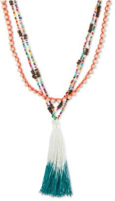 Women's Layered Necklace with Tassel