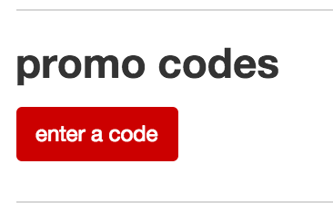 Where to enter Target promo code