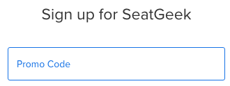 How to apply promo code at SeatGeek