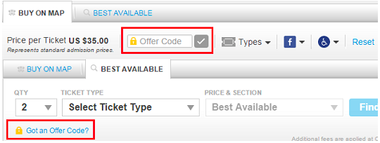 How to apply promo code at TicketMaster