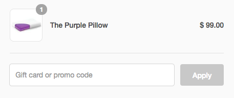How to apply promo code at Purple Mattress