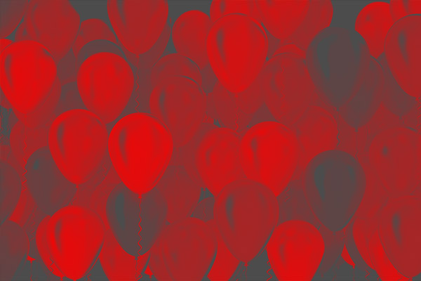 Red Balloon Party Graphic