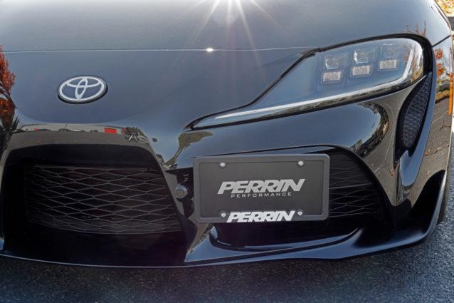 Bumper Tow Hook License Plate Bracket Mount Holder For 2020-up Toyota Supra GR
