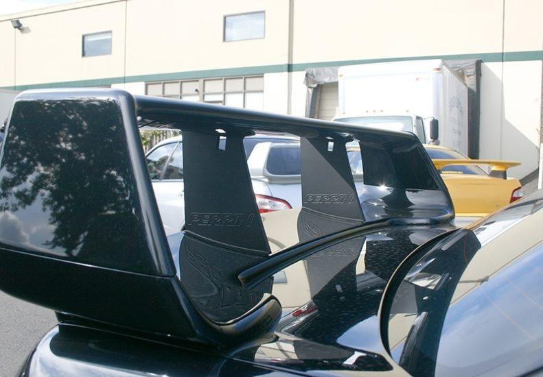 Two PERRIN Wing Stabilizers on 2004-2007 STI Sedan