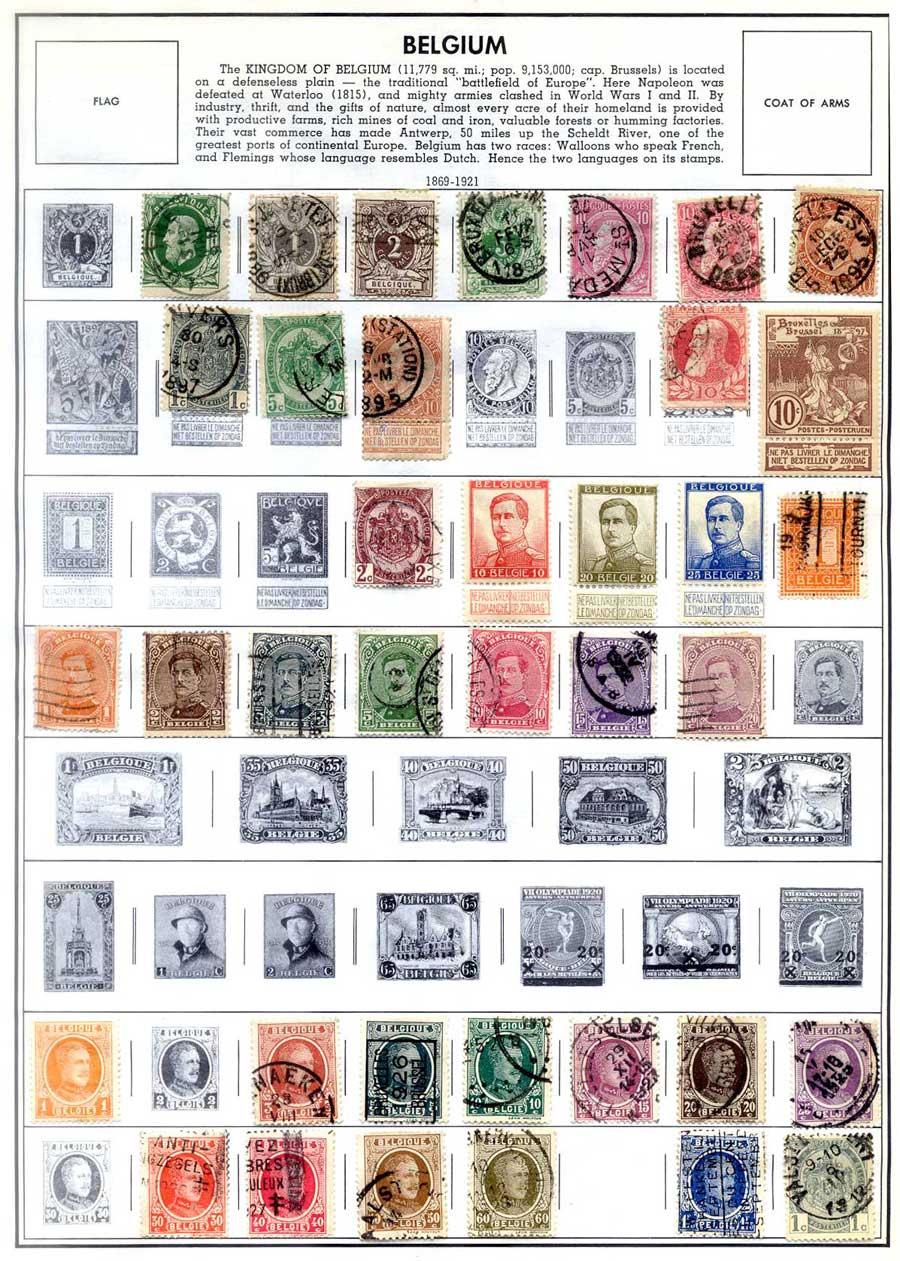Stamps Between the Wars or, My Forgotten Belgium Pages - Philatelic