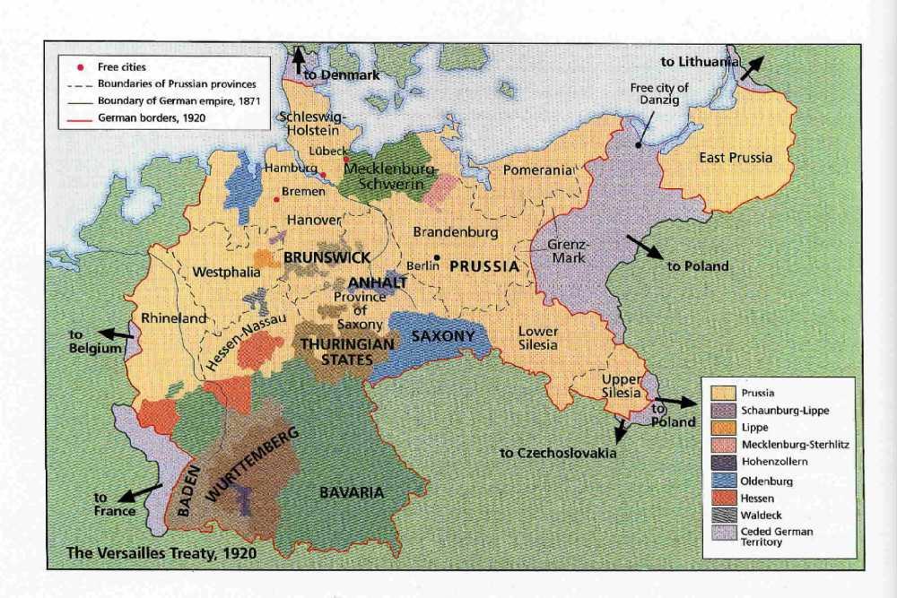 Map Of Germany 1871.Map Of Germany 1871 1920 Philatelic Database