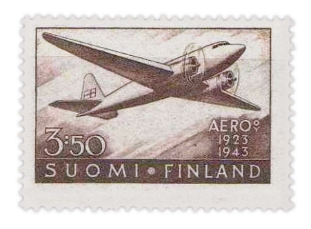 邮票 - 芬兰 -  20周年 - 航空邮政服务-1944
